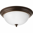 Progress Lighting (P3926-20ET) 3 Light Dome Shaped Flush Mount in Antique Bronze