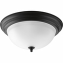 Progress Lighting (P3926-80) Melon 3 Light Flush Mount in Forged Black