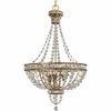 Thomasville Lighting Palais Collection (P3634-63) Traditional/Formal 3 Light Chandelier shown in Imperial Gold with Faceted Glass