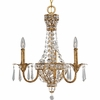 Thomasville Lighting Palais Collection (P4337-63) Traditional/Formal 3 Light Chandelier shown in Imperial Gold with Faceted Glass