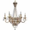 Thomasville Lighting Palais Collection (P4338-63) Traditional/Formal 9 Light Chandelier shown in Imperial Gold with Faceted Glass