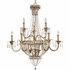 Thomasville Lighting Palais Collection (P4339-63) Traditional/Formal 12 Light Chandelier shown in Imperial Gold with Faceted Glass