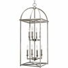 Thomasville Lighting Piedmont Collection (P3888-126) Traditional/Classic 8 Light Foyer Fixture shown in Burnished Silver with Matching Candle Covers and Caps Glass