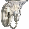 Thomasville Lighting Roxbury Collection (P2724-101) Traditional/Formal 1 Light Bath Bracket shown in Classic Silver with Clear Crystal Glass