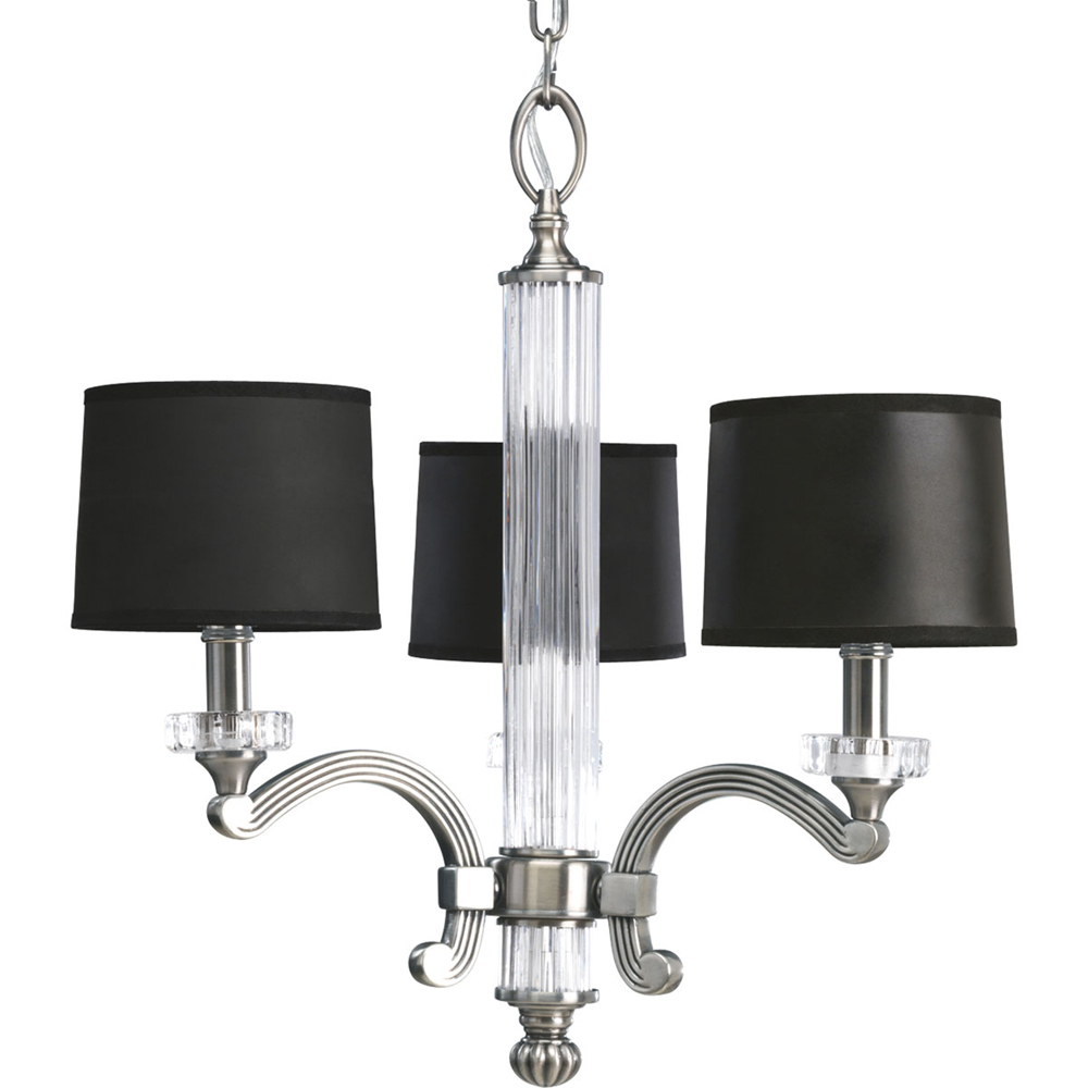 Thomasville Lighting Roxbury Collection (P4500-101) Contemporary/Soft 3 Light Chandelier shown in Classic Silver