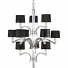 Thomasville Lighting Roxbury Collection (P4502-101) Contemporary/Soft 12 Light Chandelier shown in Classic Silver