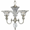 Thomasville Lighting Roxbury Collection (P4504-101) Traditional/Formal 3 Light Chandelier shown in Classic Silver with Clear Crystal Glass