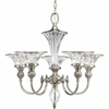 Thomasville Lighting Roxbury Collection (P4506-101) Traditional/Formal 5 Light Chandelier shown in Classic Silver with Clear Crystal Glass