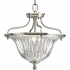 Thomasville Lighting Roxbury Collection (P2817-101) Traditional/Formal 3 Light Close-To-Ceiling Fixture shown in Classic Silver with Clear Crystal Glass