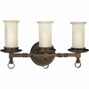 Thomasville Lighting Santiago Collection (P2754-102) Traditional/Casual 3 Light Bath Bracket shown in Roasted Java with Jasmine Mist Glass