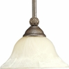 Progress Lighting Savannah Collection (P5146-86) Traditional/Formal 1 Light Mini-Pendant shown in Burnished Chestnut with Antique Alabaster Glass