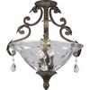 Thomasville Lighting Savona Collection (P3544-72) Traditional/Formal 3 Light Close-To-Ceiling Fixture shown in Cognac with Optic Hammered Glass