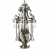 Thomasville Lighting Savona Collection (P3545-72) Traditional/Formal 6 Light Foyer Fixture shown in Cognac with Cut Glass