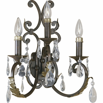 Thomasville Lighting (P2944-72) Savona 3 Light Wall Bracket in Cognac