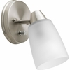 Progress Lighting Wisten Collection (P3359-09) Contemporary/Soft 1 Light Directional Fixture shown in Brushed Nickel with Etched Glass
