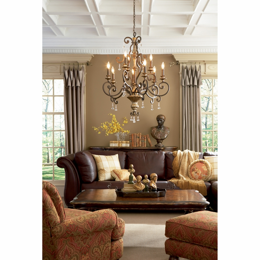 Quoizel lighting (mq5009hl) marquette 9 light foyer piece in heirloom