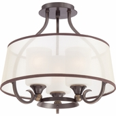 "Quoizel Lighting (PLR1716PN) Palmer 16"" Semi-Flush Mount in Palladian Bronze"