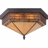 "Quoizel Lighting (TFSM1615VB) Samara 15"" Flush Mount in Dark Bronze with Lighter Bronze Highlight & Semi-Gloss Finish"