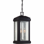 Quoizel Lighting (TML1908K) Trumbull Outdoor Hanging Lantern in Mystic Black