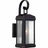 Quoizel Lighting (TML8405K) Trumbull Outdoor Wall Sconce in Mystic Black