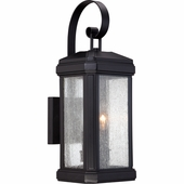 Quoizel Lighting (TML8407K) Trumbull Outdoor Wall Sconce in Mystic Black