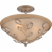 "Quoizel Lighting (WSY1716IF) Wesley 16"" Semi-Flush Mount in Italian Fresco"