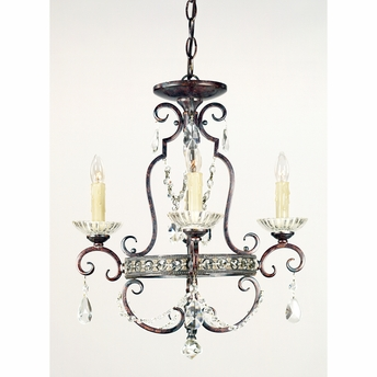 Quoizel Mini Chandelier- European Style Quoizel Mini Chandelier Chandelier In Royal Bronze Finish From Quoizel Lighting- QMC402RL