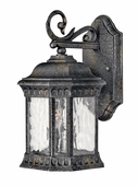 Hinkley Lighting (1720BG) Regal Small Outdoor Wall Sconce in Black Granite with Clear Seedy Water Glass