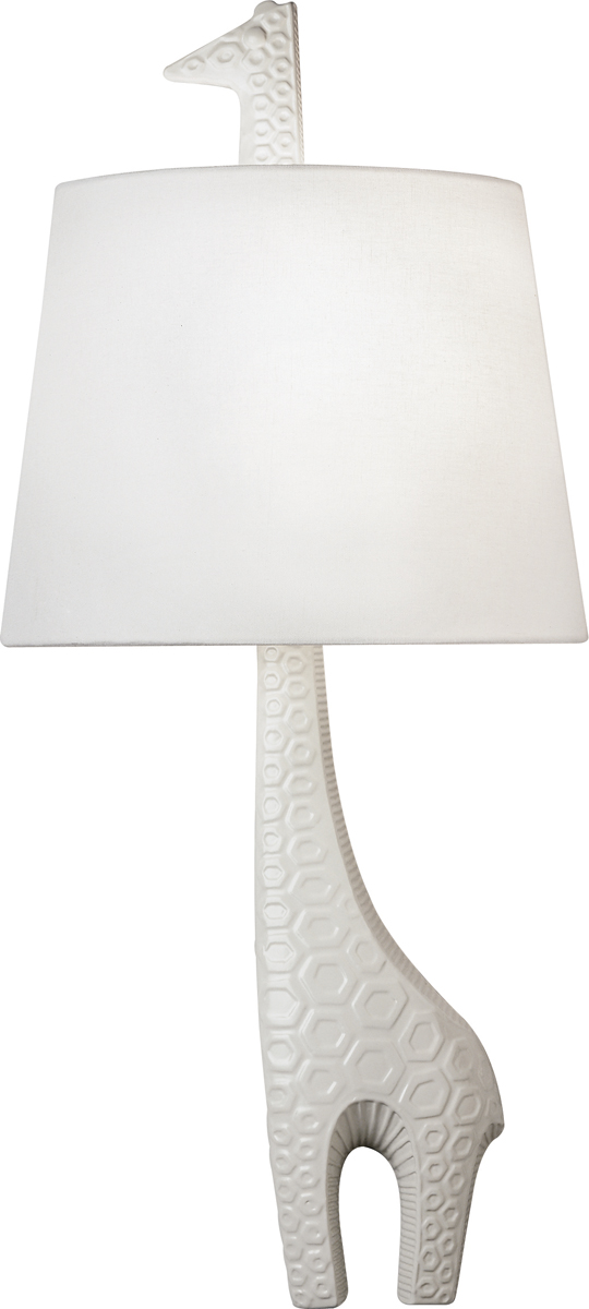 robert abbey 730l jonathan adler ceramic giraffe left sconce shown. Black Bedroom Furniture Sets. Home Design Ideas