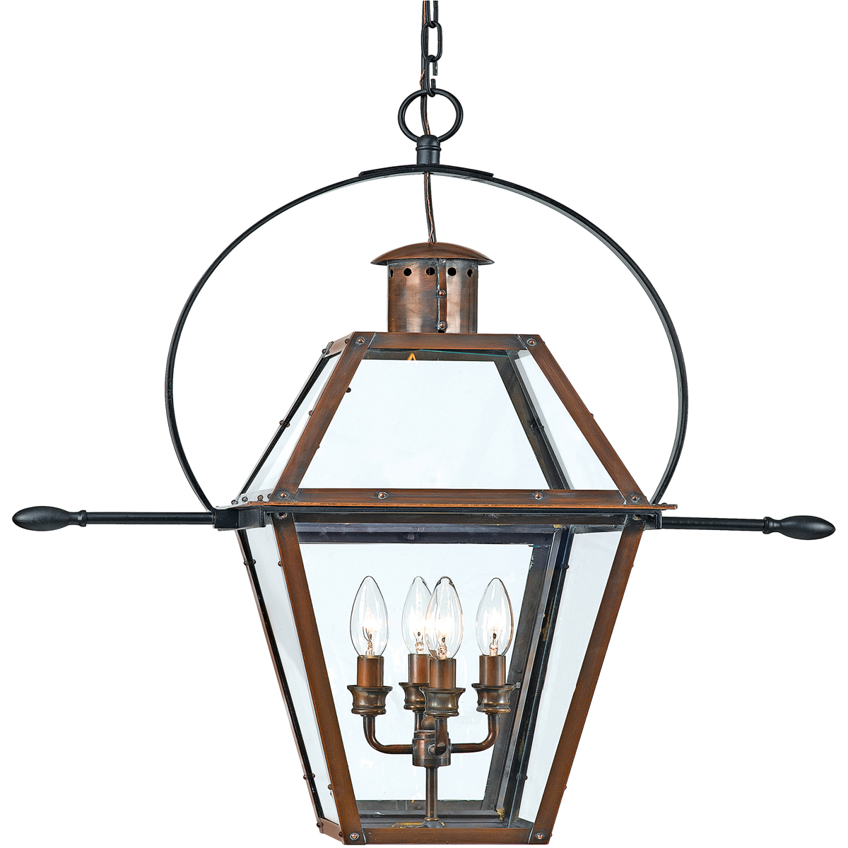 Quoizel Lighting (RO1914AC) Rue De Royal Outdoor Hanging Fixture in Aged Copper Finish