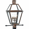 Quoizel Lighting (RO9014AC) 4 Light Rue De Royal Outdoor Post Lantern in Patinaed Solid Copper with Antique Highlights