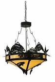 Meyda Tiffany (110367) 34 Inch Width Catch Of The Day Trout Inverted Pendant