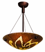 Safari Italian Art Glass Cable Semi-Flush shown in Bronze by Access Lighting