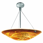 Safari Italian Art Glass Cable Semi-Flush shown in Brushed Steel by Access Lighting