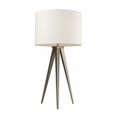 Salford Steel Table Lamp shown in Satin Nickel by Dimond Lighting
