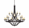 Savoy House (1-2018-24-05) Elba 24 Light Chandelier in Oiled Copper Finish