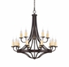 Savoy House (1-2014-15-05) Elba 15 Light Chandelier in Oiled Copper Finish