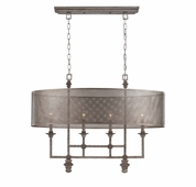 Savoy House (1-4301-4-242) Structure 4 Light Chandelier in Aged Steel