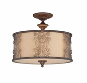 Savoy House (6-3952-3-124) Windsor 3 Light Semi Flush in Fiesta Bronze with Gold Hilights