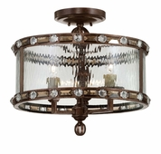 Savoy House (6-6032-3-131) Paragon 3 Light Semi Flush in Gilded Bronze