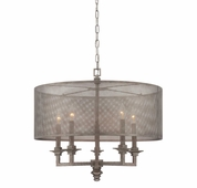 Savoy House (7-4306-5-242) Structure 5 Light Pendant in Aged Steel