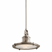 Sayre Pendant 1 Light shown in Antique Pewter by Kichler Lighting