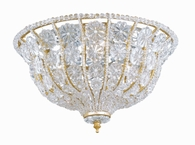 Signature Collection 3 Light Ceiling Mounts with Hand Cut Crystal Beads Crystals shown in Burnished Gold by Crystorama Lighting