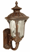 Exteriors by Craftmade (Z3500-98) Sheffield 1 Light Small Wall Mount in Aged Bronze & Clear Hammered Glass