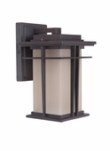 Exteriors by Craftmade (Z5204-92) Winslow 1 Light Small Wall Mount in Oiled Bronze & Amber Frost Glass