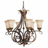 Sonoma Valley Collection Chandelier from Murray Feiss Lighting -F2076