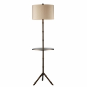 Stanton Steel Floor Lamp shown in Dunbrook by Dimond Lighting