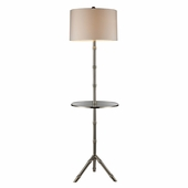 Stanton Steel Floor Lamp shown in Silver Plated by Dimond Lighting