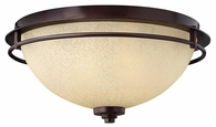 """Hinkley Lighting (4721MC) Stowe 15.5"""" Flush Mount in Metro Copper with Antique Light Scavo Shade"""