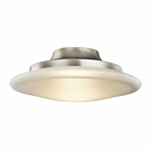 Structures Flush Mount 1 Light Fluorescent shown in Brushed Nickel by Kichler Lighting